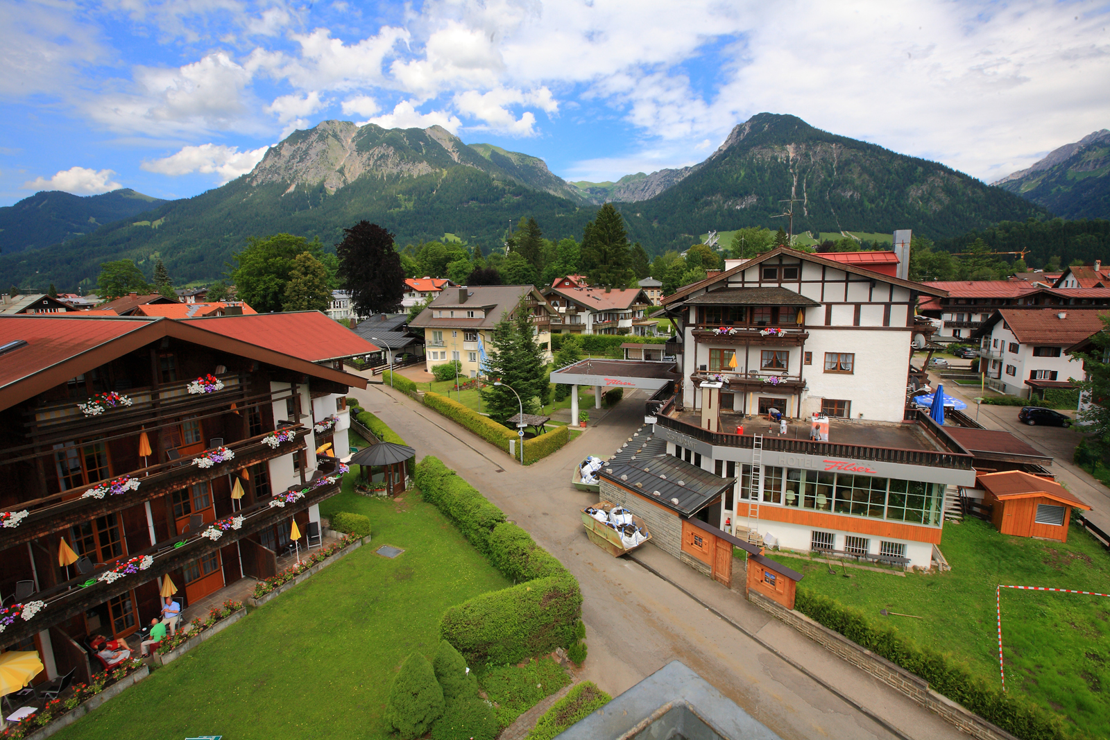 Parken am Hotel in Oberstdorf